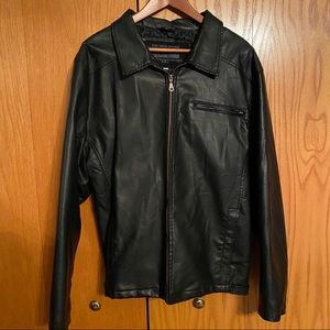 Mens Large faux leather jacket